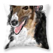 Borzoi Handsome Throw Pillow