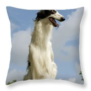 Borzoi Or Russian Wolfhound Throw Pillow