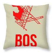 Bos Boston Airport Poster 1 Throw Pillow
