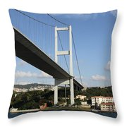 Bosphorus Bridge Istanbul Throw Pillow