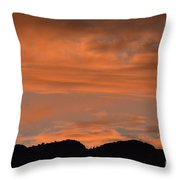 Bosque Del Apache Sunset  Throw Pillow
