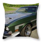 Boss 351 Mustang Throw Pillow