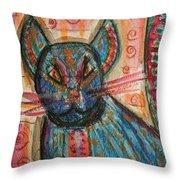 Bossa Nova Kittykat Throw Pillow