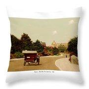 Boston - Back Bay Fens Speedway - 1915 Throw Pillow