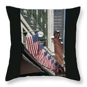 Boston 4th Of July Throw Pillow