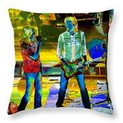 Boston #78 Enhanced In Cosmicolors Throw Pillow
