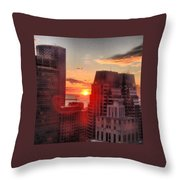 Boston At Dawn Throw Pillow