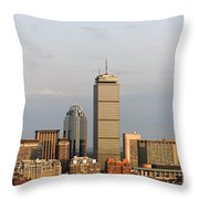 Boston Back Bay With The Prudential Tower Throw Pillow by Jannis Werner