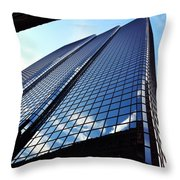 Boston Blue Glass Throw Pillow