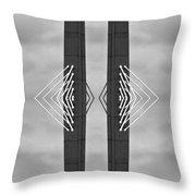 Boston Bridge Abstract Throw Pillow