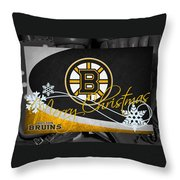 Boston Bruins Christmas Throw Pillow