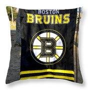 Boston Bruins Flag Throw Pillow