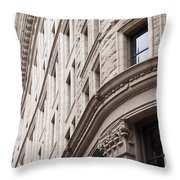 Boston Building Throw Pillow