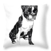 Boston Bull Terrier Throw Pillow