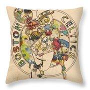 Boston Celtics Logo Vintage Throw Pillow