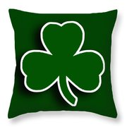 Boston Celtics Throw Pillow by Tony Rubino