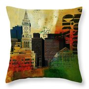 Boston City Collage 2 Throw Pillow by Corporate Art Task Force