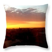 Boston Colors Throw Pillow