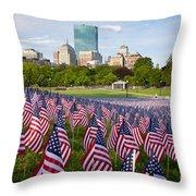 Boston Common Flags Throw Pillow