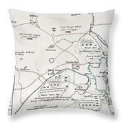 Boston-concord Map, 1775 Throw Pillow