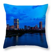 Boston Evening Throw Pillow