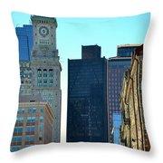 Boston Financial District Throw Pillow