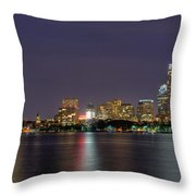 Boston From Memorial Drive Throw Pillow by Joann Vitali