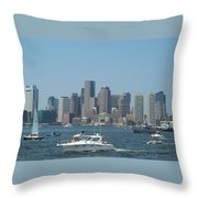 Boston Harbor July Fourth Throw Pillow