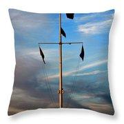Boston Harbor Twilight Throw Pillow