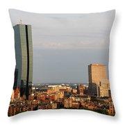 Boston John Hancock Tower Skyline Throw Pillow