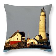 Boston Light Throw Pillow