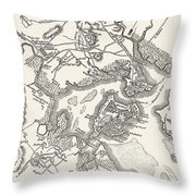 Boston: Map, 1775-1776 Throw Pillow
