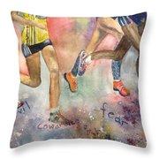 Boston Marathon Strength Throw Pillow