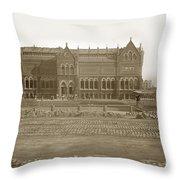 Boston Museum Of Fine Art On Copley Square Massachusetts Circa 1900 Throw Pillow
