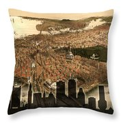 Boston Old And New Throw Pillow