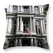 Boston Old City Hall Throw Pillow
