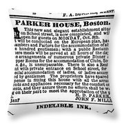Boston Parker House Throw Pillow