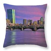 Boston Pastel Sunset Throw Pillow by Joann Vitali