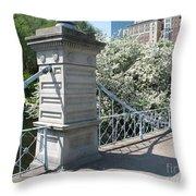 Public Garden - Boston Massachusetts Throw Pillow