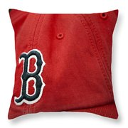 Boston Red Sox Baseball Cap Throw Pillow