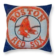 Boston Red Sox Throw Pillow by Dan Sproul