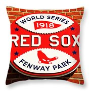 Boston Red Sox World Series Champions 1918 Throw Pillow by Stephen Stookey