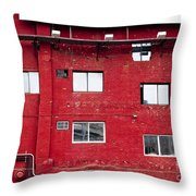 Boston Red Wall Throw Pillow