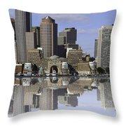 Boston Reflections Throw Pillow