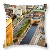 Boston Rooftops Throw Pillow