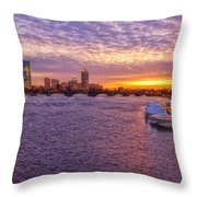 Boston Sky Throw Pillow by Joann Vitali