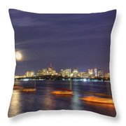 Boston Skyline From Memorial Drive Throw Pillow