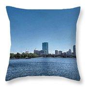 Boston Skyline II Throw Pillow