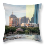 Boston Skyline II Throw Pillow