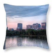Boston Skyline IIi Throw Pillow